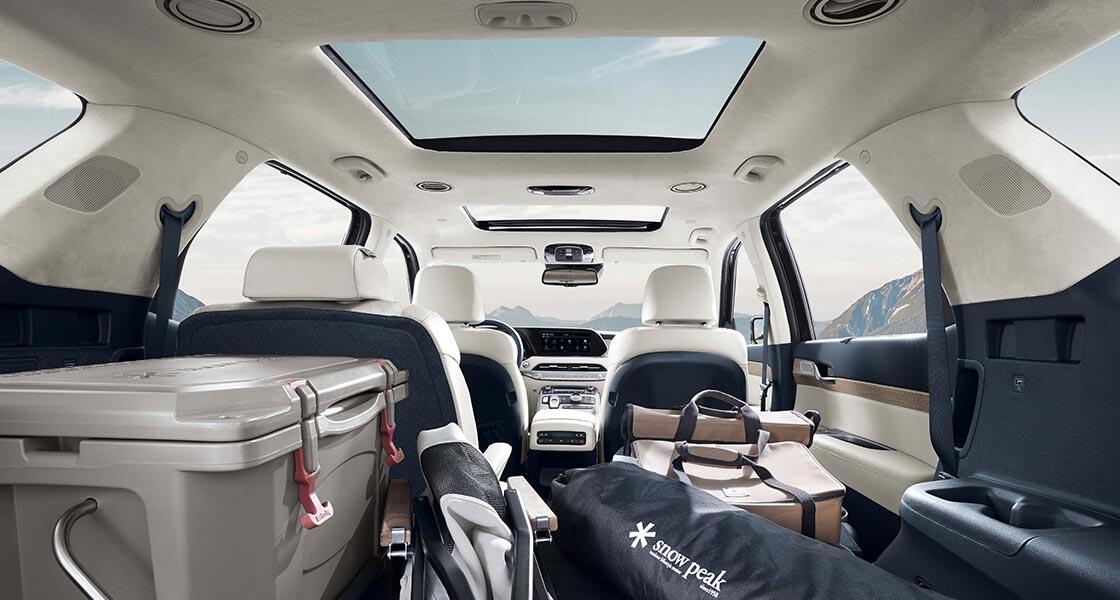palisade lx2 design interior accordion large luggage space original