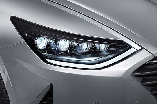 sonata dn8 design front accordion led headlamps projection type daytime running light led original